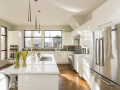 Beautiful shot of a modern house kitchen